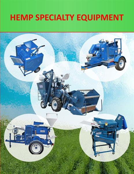 ALMACO equipment specialized for Hemp seed harvesting and processing